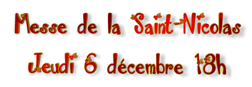 Messe Saint Nicolas 2018 18 h